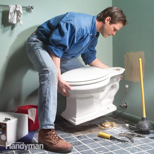 toilet installation made somewhat easy - Bathroom Repair